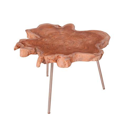 baumstamm beistelltisch couchtisch baumstamm 216 60cm teak massivholz beistelltisch
