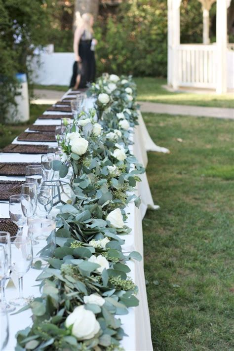 Wedding Aisle With Tables by 25 Best Ideas About Table Garland On Wedding
