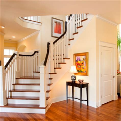 how to restain banister inside house painting
