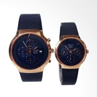 Alexandre Christie Ac8420 Rosegold Blue Canvas jual jam tangan christie terbaru harga murah blibli