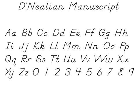 printable manuscript alphabet letters print handwriting hand writing