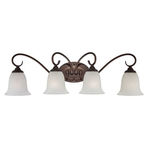 Rubbed Bronze Bathroom Lights by Shop Millennium Lighting 4 Light Rubbed Bronze Standard