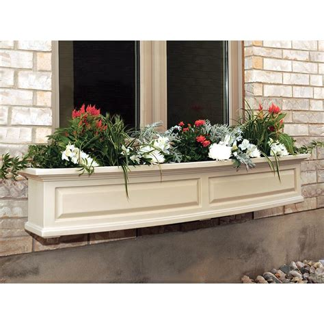home depot window boxes mayne 5 ft nantucket window box in clay 4832 c the home