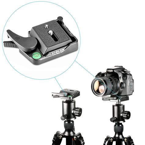 Diskon As Release Qr Alloy 1 neewer black release qr plate adapter with 1 4