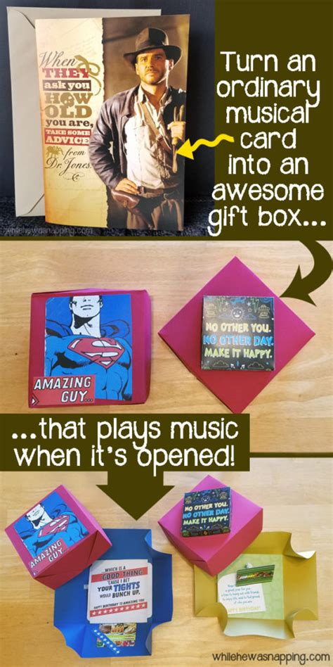 Where Can I Turn In Gift Cards For Cash - 30 minute diy musical gift box while he was napping