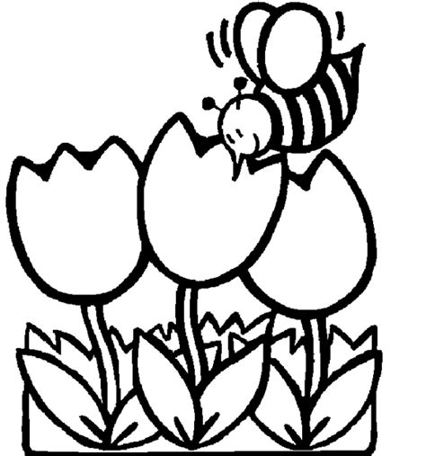 coloring pages of flowers and bees bee and flower coloring pages getcoloringpages