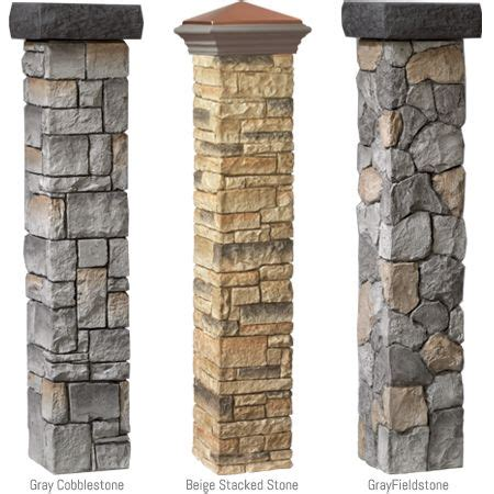 Decorative Columns Home Depot This Mailbox Post And Posts On Pinterest