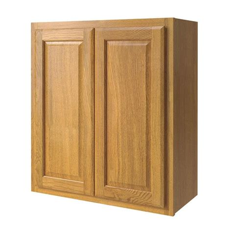 Kitchen Door Cabinet Shop Now Portland 27 In W X 30 In H X 12 In D Wheat Square Door Wall Cabinet At Lowes