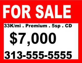 For Sale Sign Template by Sale Sign Templates Free Clipart Best