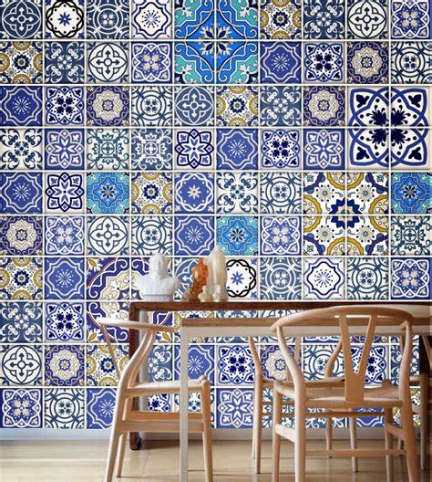 Chalkboard Kitchen Backsplash Talavera Traditional Tile Decals Pack Of 100