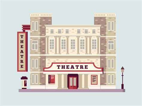 design concept theatre definition theater building illustration