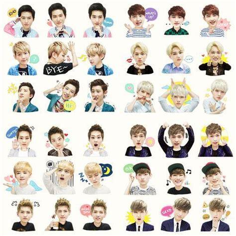 wallpaper line exo this exo line sticker is freakin cute cute stickers
