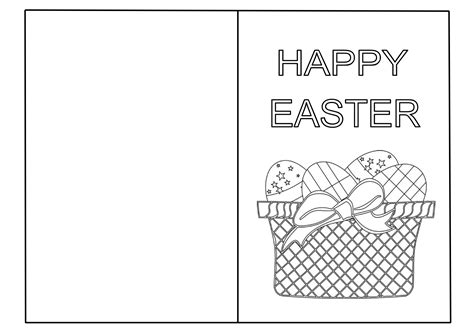 coloring card templates 6 best images of easter printable cards to color free