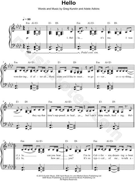 printable lyrics hello adele piano piano chords hello adele piano chords piano