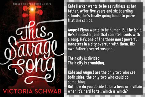 this savage song monsters this savage song by victoria schwab book review life and other disasters