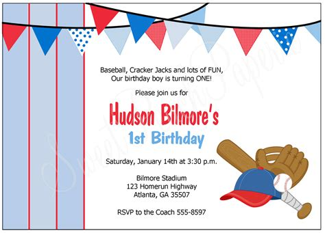 baseball themed invitation template the sweet paperie baseball invitation