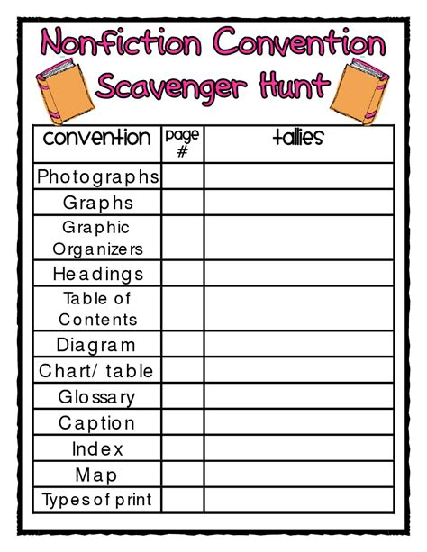 html non printable text text features scavenger hunt worksheet free worksheets