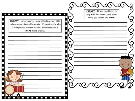 Elementary School Essay Topics by Writing Prompts For The Elementary Classroom Cross Curricular Intergration