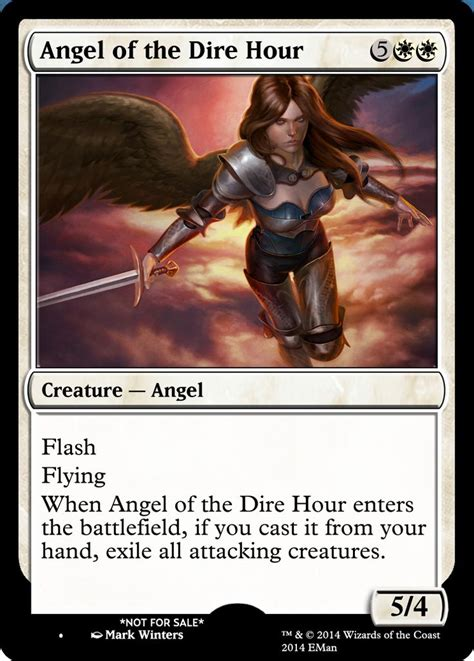 the hour of the angel of the dire hour mtg digital rendering