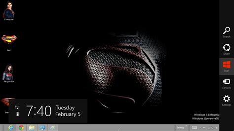 themes for windows 7 superman man of steel windows 7 and windows 8 theme ouo themes