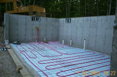 pex on mesh radiant floor slab radiant heat