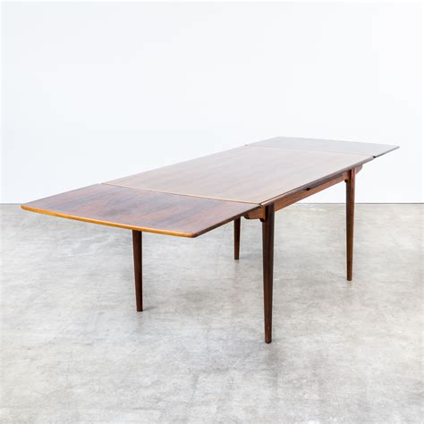 60s dining table 60s rosewood dining table extandable attr gunni omann barbmama