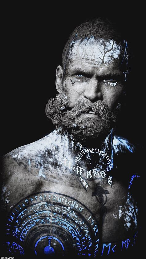 baldur  stranger god  war tatuagens viking mitologias