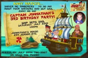 jake and the neverland birthday invitation template jake and the neverland birthday invitations