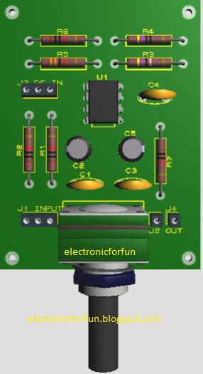 komponen layout majalah lowpass filter ne5532 electronicforfun