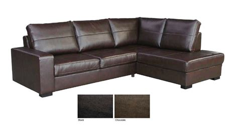 brown leather corner sofa brown black leather 3 seater corner chaise sofa suite