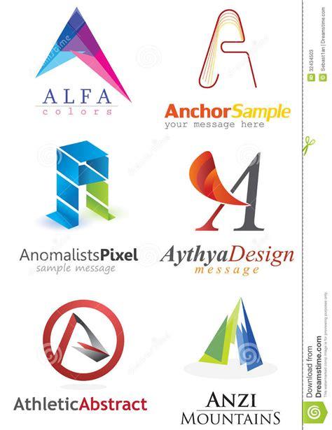 design logo perusahaan gratis letter a logo stock vector illustration of elements