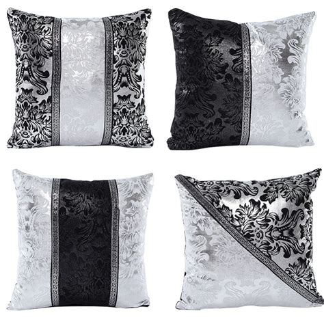 cushion covers for sofa pillows vintage black silver throw pillow cushion cover sofa