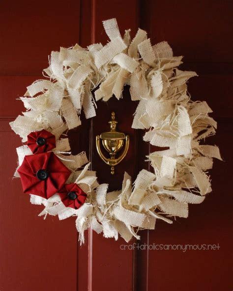 white burlap wreath idea christmas wreaths to make