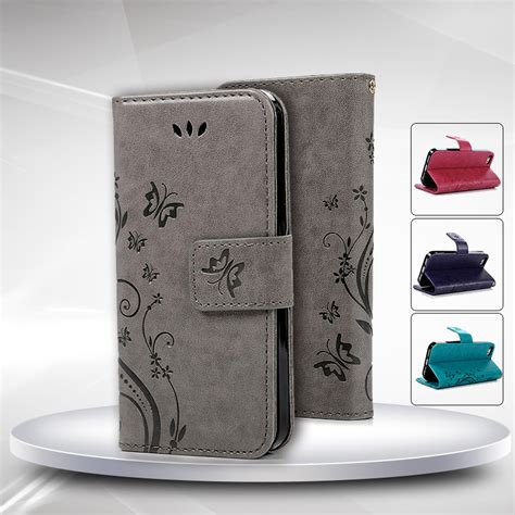 Iphone 5 5s Se Luxury Wallet Pu Leather Flip Cover Stand for iphone 5s fashion flower printing luxury pu leather stand wallet flip cover phone for