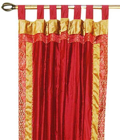 red tab top curtains bianca red tab top window cum door curtain buy bianca