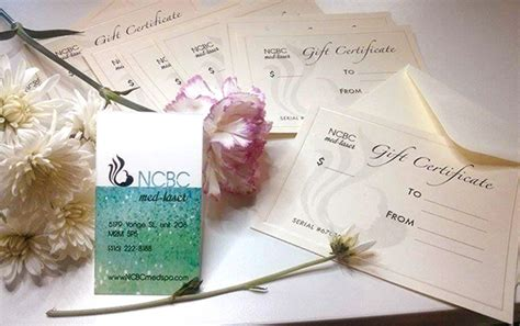 Spa Gift Card Toronto - spa gift card ncbc med laser ncbc med laser skin rejuvenation clinic in toronto