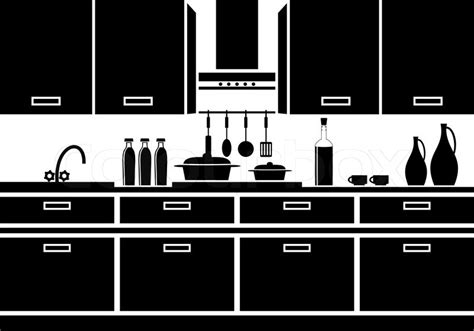 kitchen icon icon of kitchen stock vector colourbox