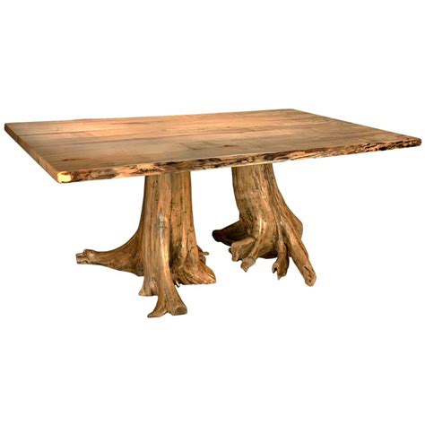 cedar tree stump dining table the log furniture store