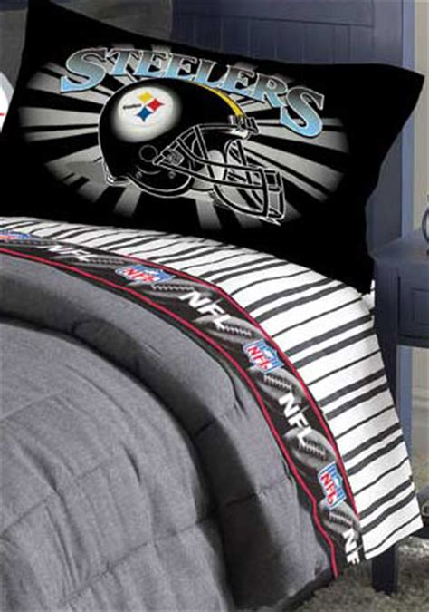 pittsburgh steelers comforter sets queen size pittsburgh steelers queen size pinstripe sheet set