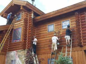 log home stain log home maintenance staining log home rustic exterior