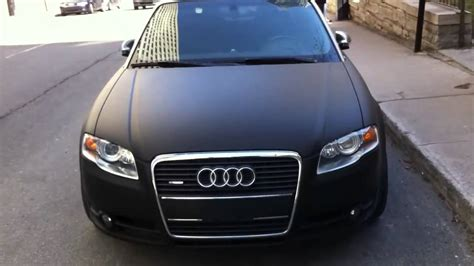 audi a4 matte black matte black audi a4 cabriolet in montreal 720p youtube