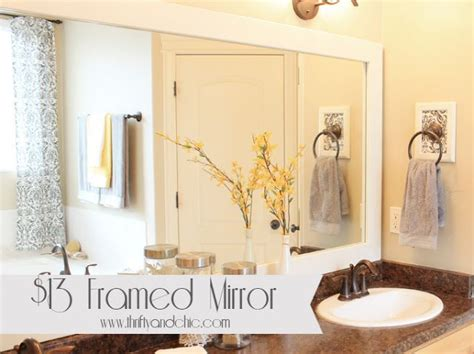 diy framed mirror and framed towel holder ideas for