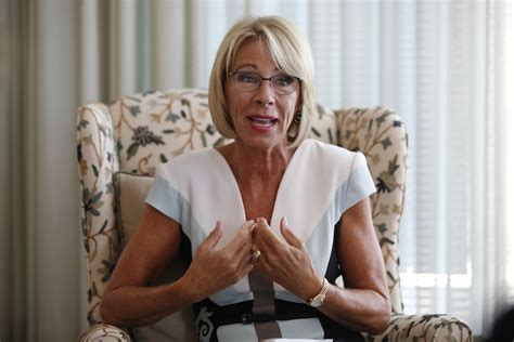 betsy decos betsy devos comes out of hiding to complain critics are