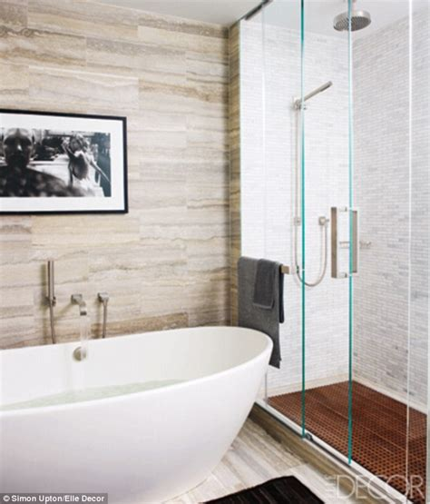 Bathroom Pictures Next Hilary Swank S Sleek Manhattan Apartment Daily Mail