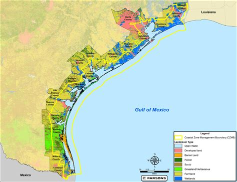 map of the texas coast maps texas coastal best management practices