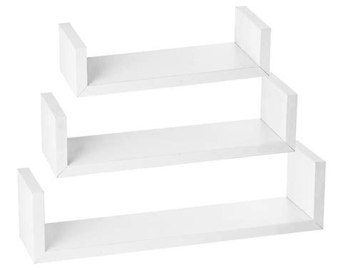 halter wall shelves set of 3 u shaped floating shelves