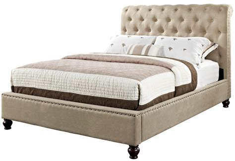 tufted bed queen scenic beige upholstered queen tufted bed with woodn base