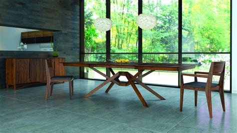 copeland furniture natural hardwood furniture vermont exeter single leaf extension table walnut extension fixed top tables dining