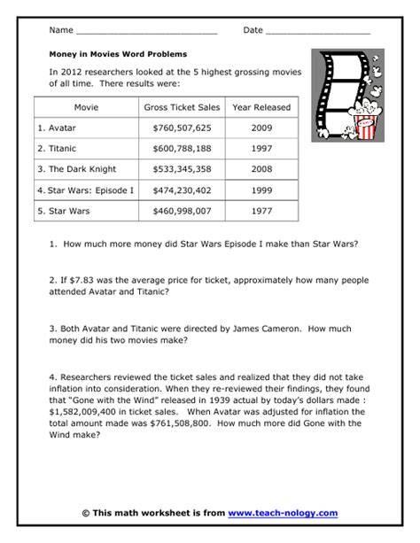 Money Word Problems Worksheets by Printable Math Worksheets Money Word Problems Shopping