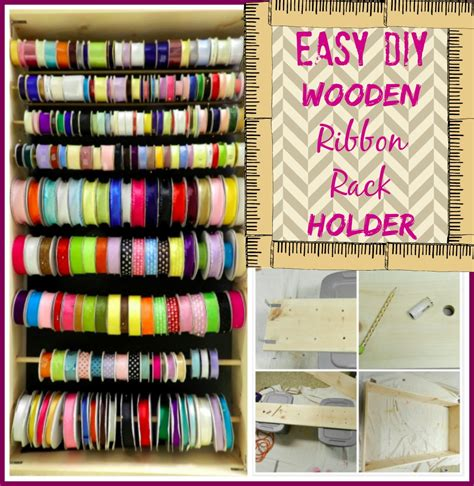 Rack Tutorial by Craft Organization How To Make A Wooden Ribbon Rack